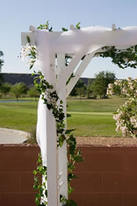 Wedding arbor decoration wedding flowers plants and for Arch decoration crossword clue