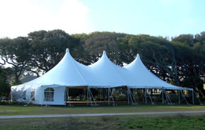 white wedding reception tent with sidewalls, planning outdoor weddings