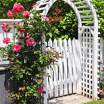 Garden Arbor Trellis, Rose Blooming, Wedding Decorations